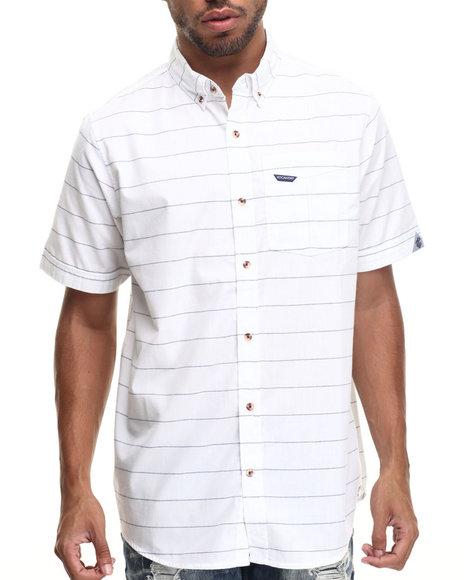 Rocawear - Men White Striped S/S Button-Down