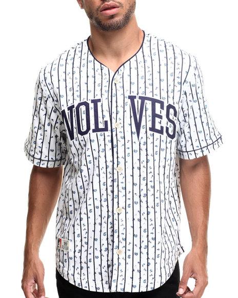 Rocawear - Men White Starter Baseball Jersey - $22.99