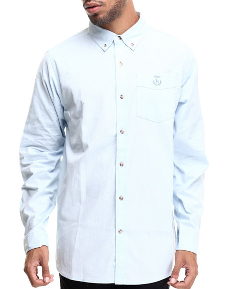 Rocawear - Men Blue Utility L/S Button-Down
