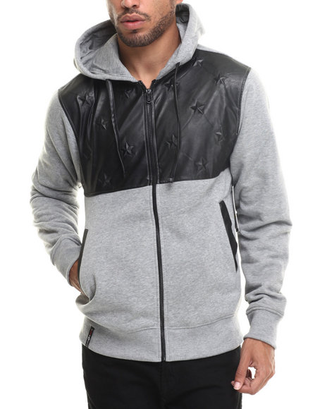 Enyce - Men Grey Eagor Full Zip Hoody