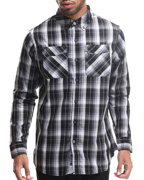 Rocawear - Men Black Medium L/S Button-Down