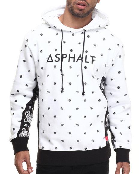 Asphalt Yacht Club - Men White Oblong Fleece Hoodie
