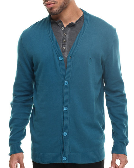 Ur-ID 185421 WESC - Men Teal Borik 5 - Button Cardigan