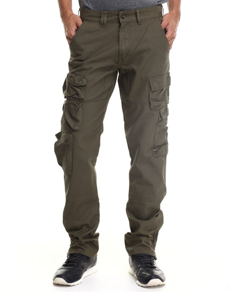 Rocawear - Men Olive Compact Cotton Twill Pants