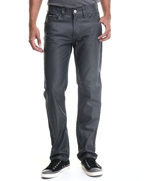 Enyce - Men Grey Brooklyn Coated Denim Jeans