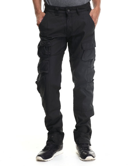 Rocawear - Men Black Compact Cotton Twill Pants