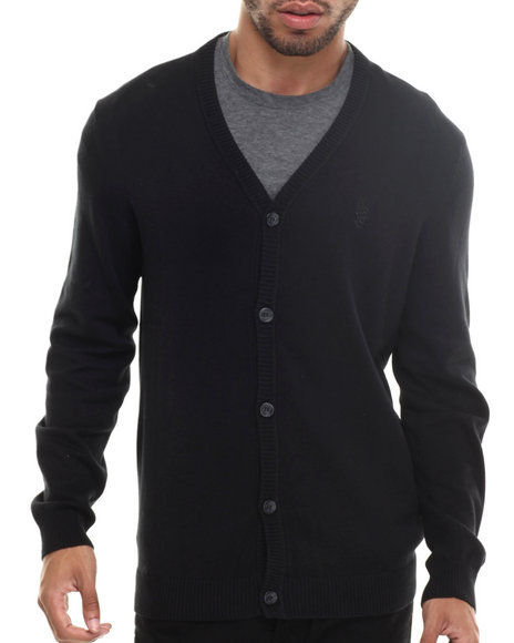 Ur-ID 185419 WESC - Men Black Borik 5 - Button Cardigan
