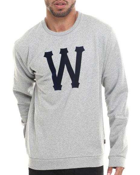 Wesc - Men Grey Homerun Crewneck Sweatshirt