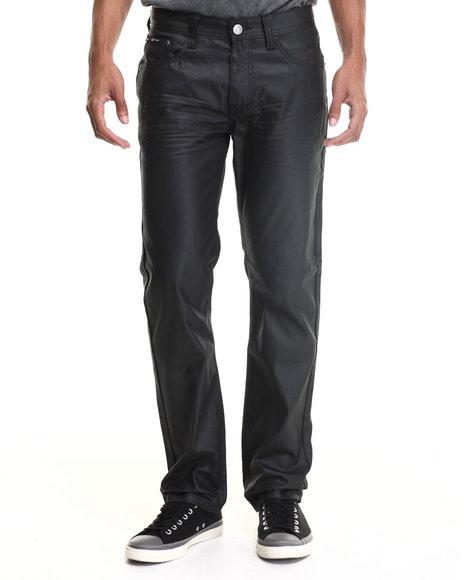 Enyce - Men Black Brooklyn Coated Denim Jeans