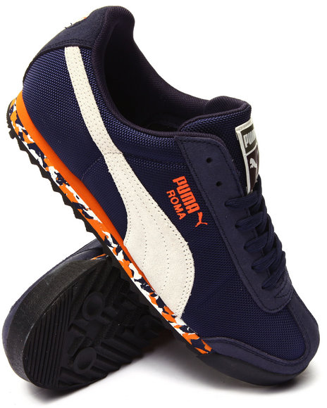 Puma - Men Navy Roma Rugged Sneakers
