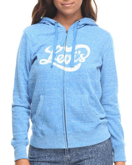 Levi's - Women Blue Collegiate Script Zip Front Hoodie
