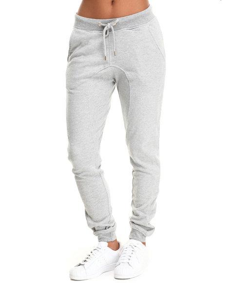 Soho Babe - Women Grey Semi Drop Crotch French Terry Jogger Pant