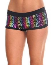 Women - Foil Cheetah Laser Cut Short