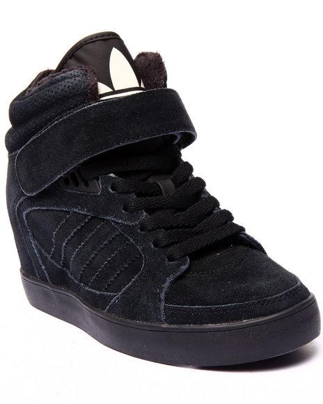Adidas - Women Black Amberlight Up Wedge Sneakers
