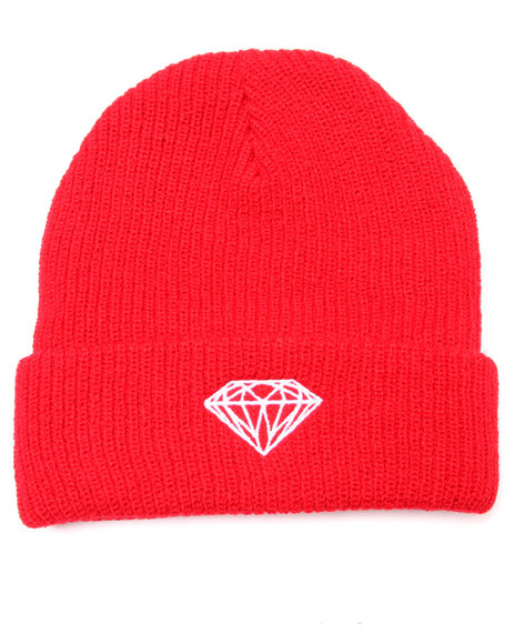 Diamond Supply Co Men Brilliant Fold Beanie Red