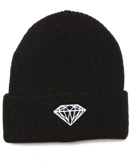 Diamond Supply Co Men Brilliant Fold Beanie Black