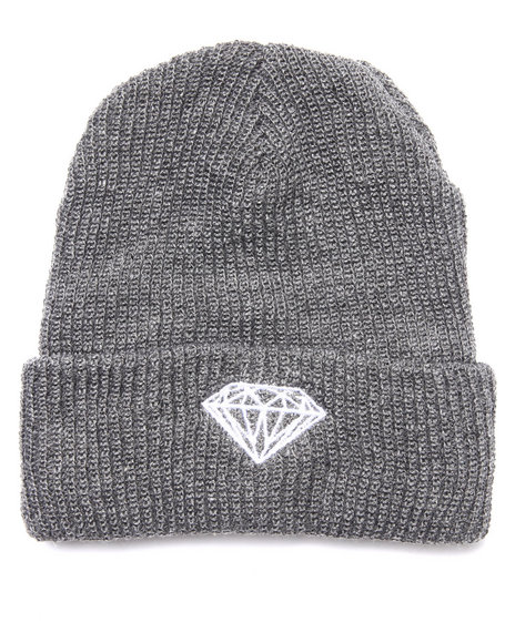 Diamond Supply Co Grey Beanie
