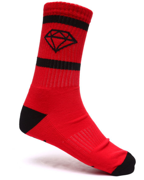 Diamond Supply Co Men Rock Sport Socks Red