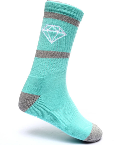 Diamond Supply Co Men Rock Sport Socks Teal