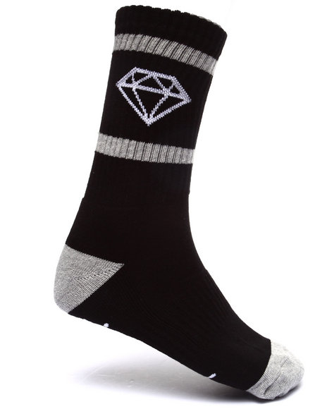 Diamond Supply Co Men Rock Sport Socks Black