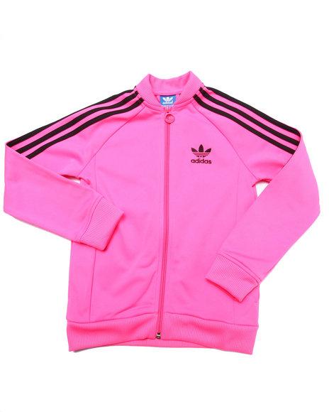 Adidas - Girls Pink Junior Superstar Track Jacket