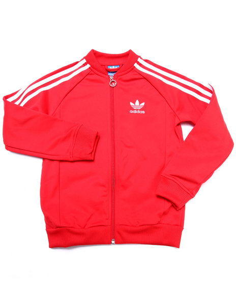 Adidas - Boys Red Junior Superstar Track Jacket