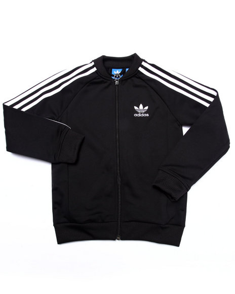 Adidas - Boys Black Junior Superstar Track Jacket