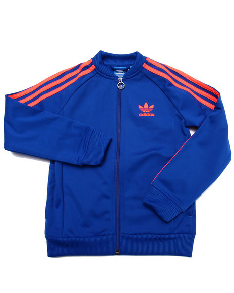 Adidas - Boys Blue Junior Superstar Track Jacket - $31.99