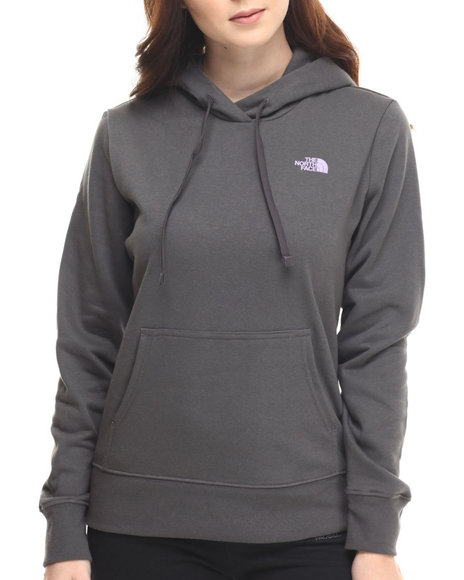The North Face - Women Charcoal Shadow Script Pullover Hoodie
