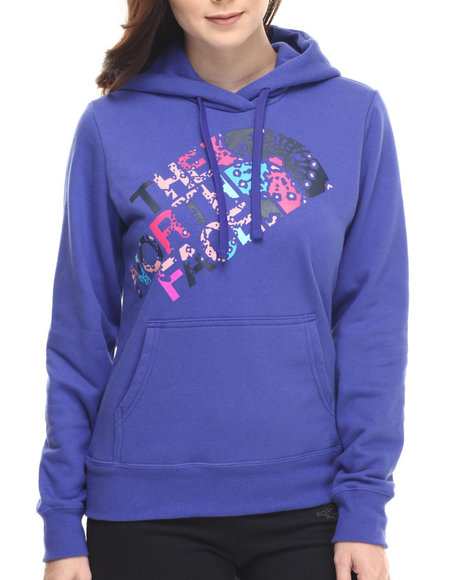 The North Face - Women Blue Abstract Flower Pullover Hoodie