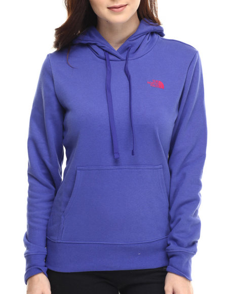 The North Face - Women Blue Shadow Script Pullover Hoodie