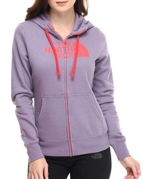 The North Face - Women Purple Half Dome Full Zip Hoodie
