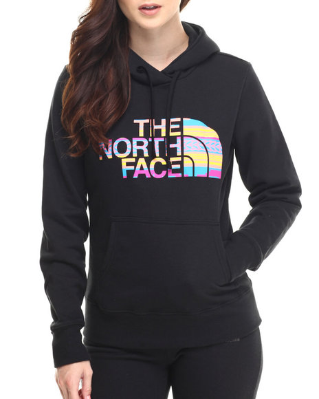 The North Face - Women Black Texture Stripe Pullover Hoodie