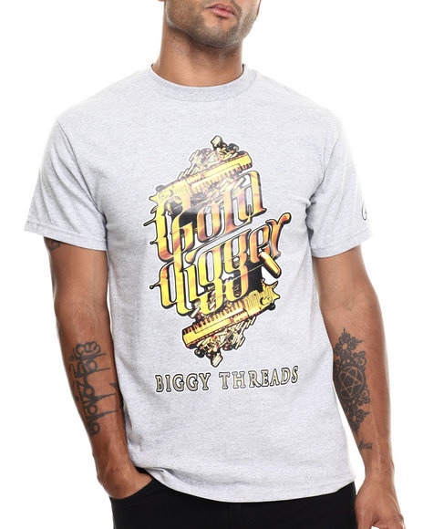 Buyers Picks - Men Grey Gold Digger S/S Tee