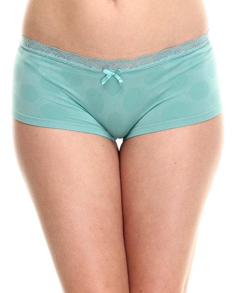 Ur-ID 185494 DRJ Lingerie Shoppe - Women Teal Tonal Dots Seamless Short
