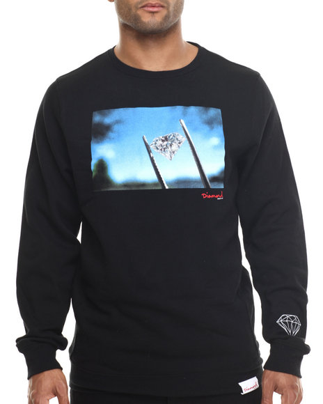 Diamond Supply Co - Men Black Diamond Sky Crewneck Sweatshirt