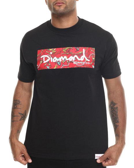 Diamond Supply Co - Men Black Low Life Box Logo Tee