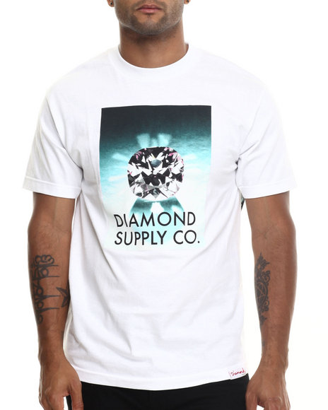 Diamond Supply Co - Men White Diamond Supply Tee