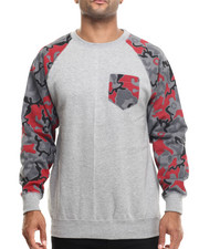 Basic Essentials - Artillery Camo Pocket Crewneck Sweatshirt
