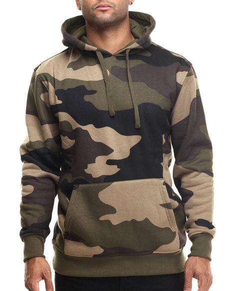 Basic Essentials - Men Camo Printed Camo Fleece Hoodie