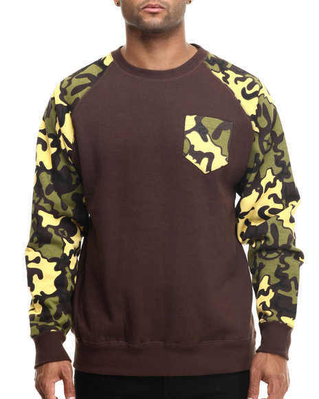 Basic Essentials Brown Pullover Sweatshirts