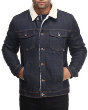 WESC - Hook Sherpa - Lined Raw Denim Jacket