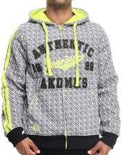 Hoodies - Guardian All-Over Print Fleece Full Zip Hoody w/ Chain Stitch Embroidery