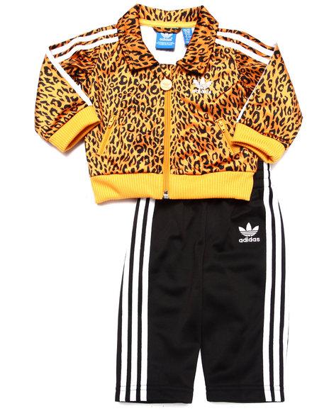 Adidas - Boys Yellow Cheetah Tracksuit (3M-4T)