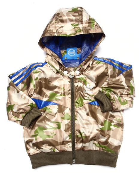 Adidas - Boys Camo Camo Track Jacket (3M - 4T)