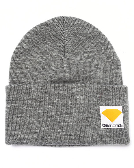 Diamond Supply Co Men Work Wear Beanie Grey