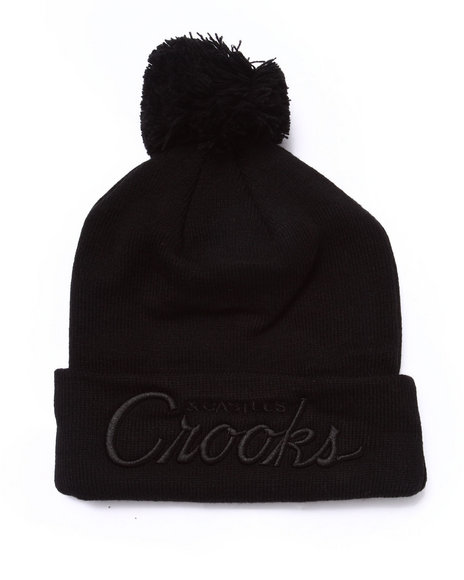 Crooks & Castles Men Team Crooks Beanie Black - $28.00