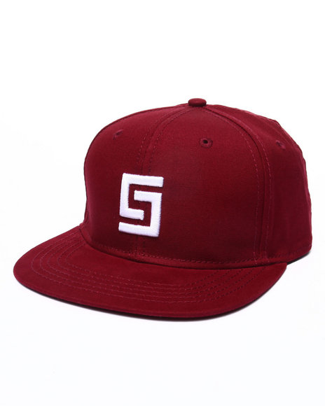 Crooks & Castles Men Greco Logo Snapback Red - $21.99