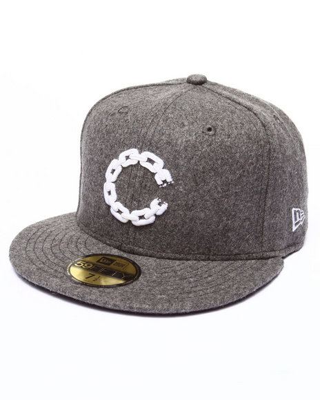 Crooks & Castles - Men Grey Chain C Fitted Cap
