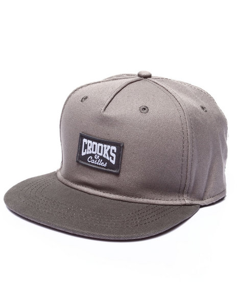 Crooks & Castles Men Core Logo Snapback Grey - $26.99